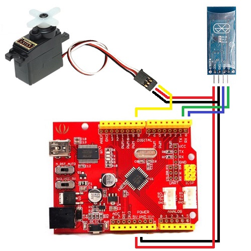 Connection scheme servo and Arduino