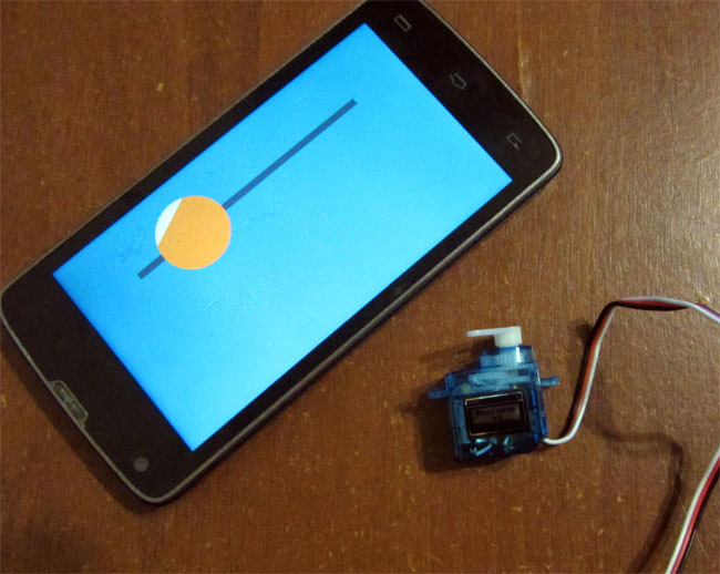 Connect servo and operate with smartphone